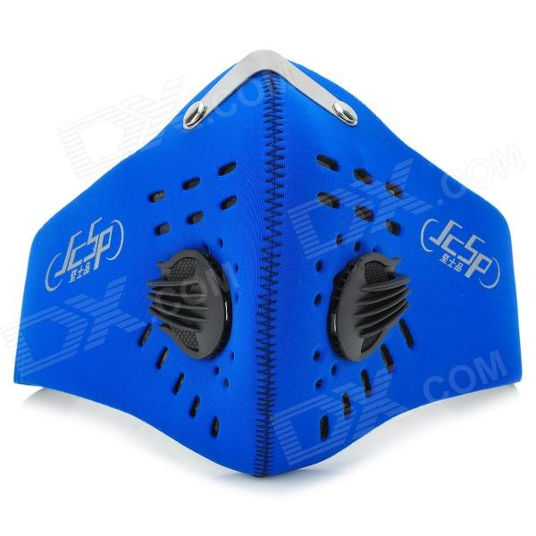JCSP n-626 Outdoor Cycling Bike Neoprene + Activated Carbon Face Mask - Blue (L)