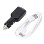 5V 1A Car Cigarette Lighter Charger w/ Cable for Samsung Note 3 / N9000 / N9002 / N9008 - Black