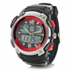 ALIKE AK1163 Men's Stylish Sports Waterproof Digital + Analog Quartz Wristwatch w/ Calendar - Black