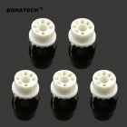 BONATECH 6-Pin MQ Series Gas Sensor Sockets - White (5 PCS)