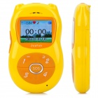 "DMO-8 Bear Style GSM Kid's Cell Phone w/ 1.4"" LCD, Quad-Band and SOS - Yellow"