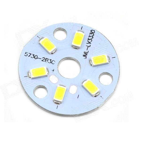 MaiTech 32mm 3W 305lm 6-SMD 5730 LED White Light Bulb Aluminum Plate - Yellow + White