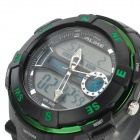 LIKE AK1386 Fashion Sports multifunksjon Vanntett Digital + Analog Quartz armbåndsur for menn