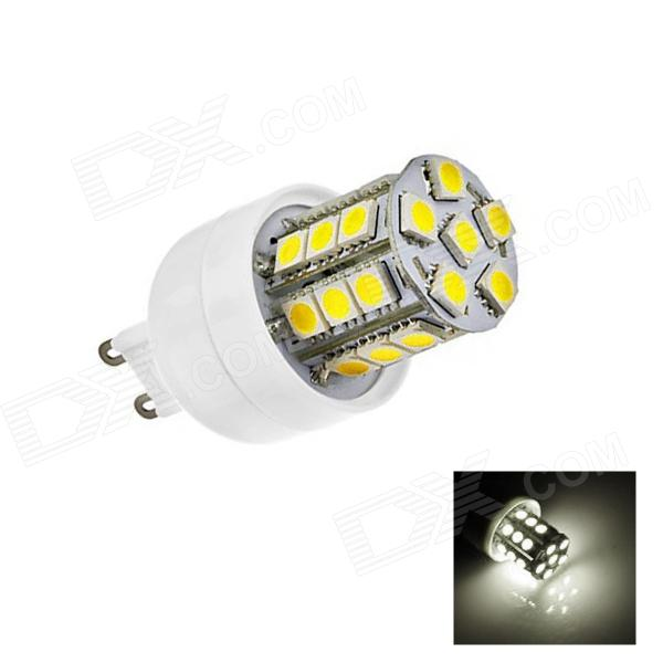 G9 3W 220lm 6500K 27-SMD 5050 LED White Light Lamp Bulb - White (AC 110~120V) lx 3w 250lm 6500k white light 5050 smd led car reading lamp w lens electrodeless input 12 13 6v