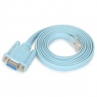 RJ45 to DB9 9pin Flat Adapter Cable - Blue (149cm)