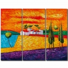 Charming Rural Scenery Canvas Oil Painting (90 x 90cm)