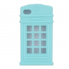 HELLO DEERE Telephone Booth Shaped Protective Silicone Case for IPHONE 4 / 4S - Blue