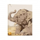 Iarts Baby Elephant Siting On Ground Oil Painting