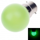 D200001 BR Elite B22 1W 90lm 490~560nm 4-LED Green Light LED Bulb (AC 220~250V 50/60Hz)