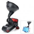 360 Degree Mini Suction Cup Holder w/ Clip + Car Charger for Motorola Moto G - Black