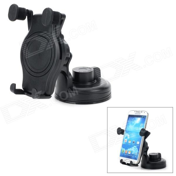 360 Degree Rotary Car Mount Holder w/ Suction Cup - Black universal car swivel mount holder with suction cup for mobile phone white
