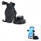 360 Degree Rotary Car Mount Holder w/ Suction Cup - Black
