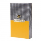 4931 COHIBA Super Fire Windproof Butane Jet Flame Lighter - Black + Silver