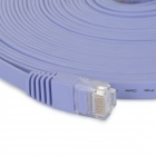 RJ45 Male to Male 8P8C CAT6 Flat LAN Network Cable - Purple (10m)
