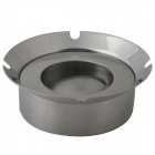 Windproof Stainless Steel Ashtray - Sliver