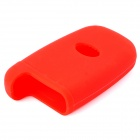 Silicone Car Key Case for Hyundai Rohens / Rohens-Coupe / Equus / Kia - Red