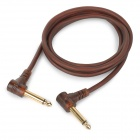 JinJiang 6.5mm Male to 6.5mm Male Audio Connection Cable - Brown (1.5m)