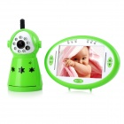 "2.4GHz Wireless 3.5"" LCD 1/4"" CMOS Night Vision Monitoring Camera for Baby - Green + White"