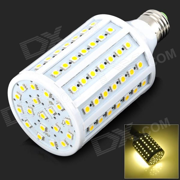 E27 18W 500lm 3500K 102-SMD 5050 LED Warm White Light Bulb - White (220~240V) zweihnder e27 15w 1200lm 86 smd 5050 led white light bulb 220 240v
