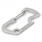 EDCGEAR Outdoor Stainless Steel Carabiner - Silver