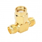 Hongyang ST-01 3-CH SMA RF Coaxial Connector / Network Card Connector - Brass