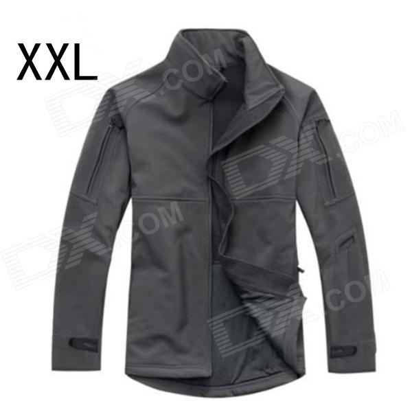ESDY-0103 Fleece Windproof Waterproof Soft Shell Commander Jackets - Grey (XXL)