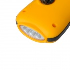 Acecamp 1031 Outdoor Portable 3-LED Dynamo Flashlight - Orange + Black