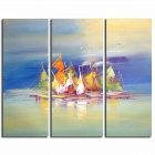 Lots Of Sailing Boat On competition Canvas Oil Painting