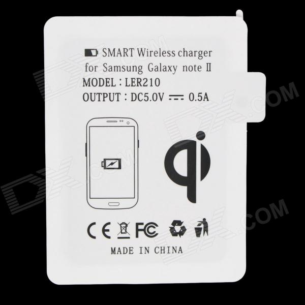 FULANKA QI Standard Wireless Charging Receiver for Samsung Galaxy Note 2 N7100 - White