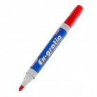 DIMA DM-328 Office Supplies Oily Whiteboard Pen Erasable Pen - Red + Blue + Grey (10 PCS)