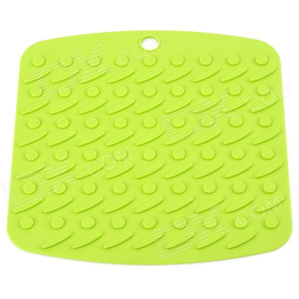 Square Silicone Heat Insulation Food Pad - Grass Green
