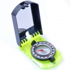 Acecamp 3109 Camping Hiking Folding Map Compass w/ Mirror / Ruler - Green + Black