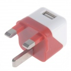 5V Mini compact 1000mA UK Plug adaptateur d'alimentation USB - Orange + blanc