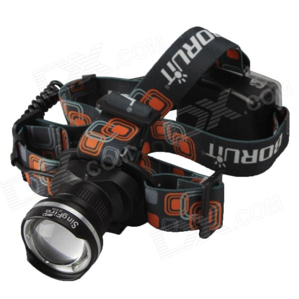 SingFire SF-638B 800lm 3-Mode White Zooming LED Headlamp - Black (3 x AA)  singfire 800lm white light led emitter