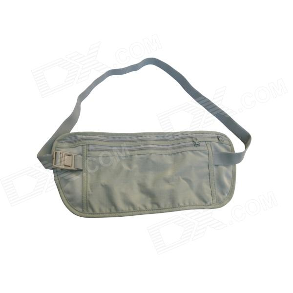 Acecamp 4880 Travel Camping Passport Waist Stash Security Pouch Wallet - Light Gray