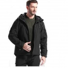 ESDY-0002 Outdoor Sports Waterproof Polyester + Fleece Jacket for Men - Black (Size-XXL)