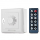LSON LED Dimmer w/ 12-Key Infrared Remote Controller - White (DC 12~24V)