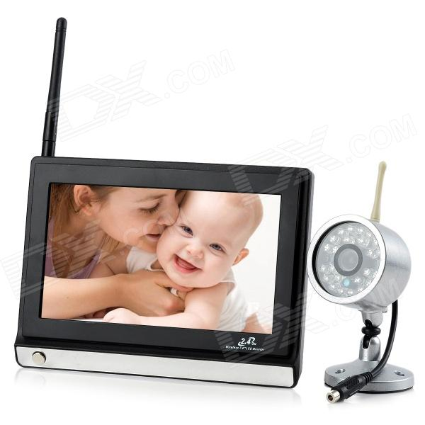 "860 + 706 7 ""LCD 1.0MP bébé moniteur sans fil w / 24-IR LED"