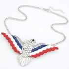 Fashion Owl Style Women's Pendant Necklace - White + Silver Grey