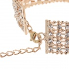 Fashionable Inserts Small Diamond Bracelet - Golden + Silver