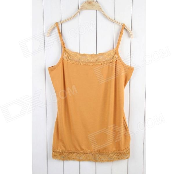 Women's Lace Halter Top - Ginger (Size L)