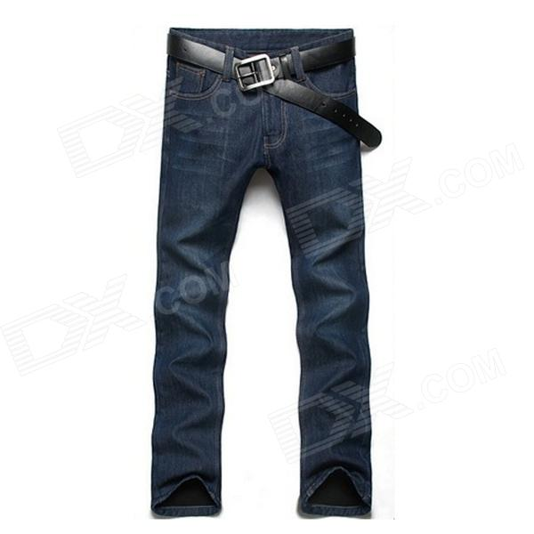 Men's Slim Fit Straight Jeans - Blue (Size 33)