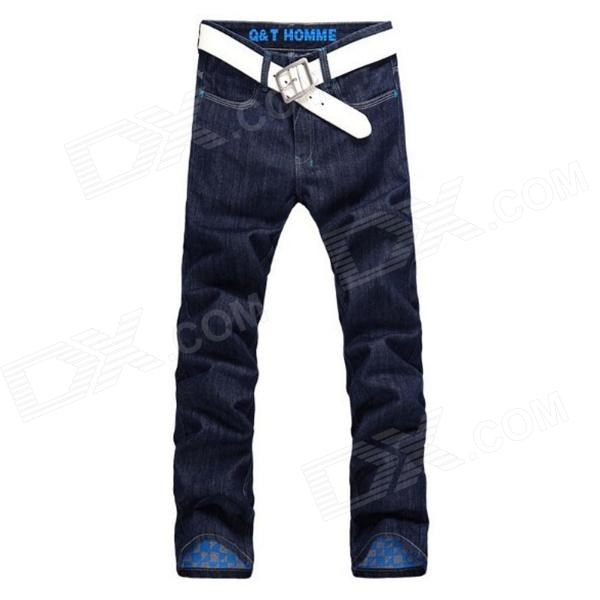 "New Type Slim Fit Straight Men""s Jeans Trousers - Blue (Size 34)"