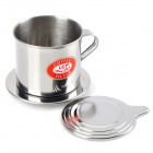 Stainless Steel MocoMocha Filter Cup Maker - Silver