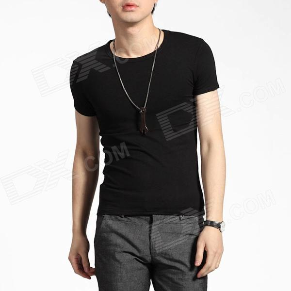 Men's Slim Short Sleeve T-shirt - Black (Size XL)