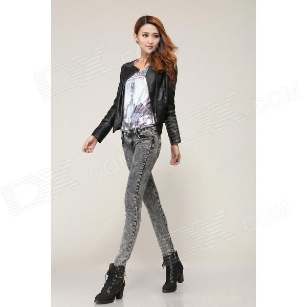 New Version Slim Fit Women's Jeans - Gray (Size 29) - Free ...
