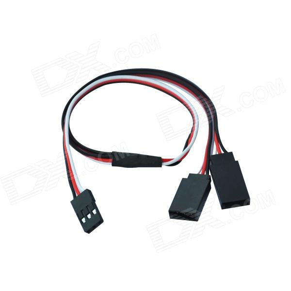 цена на 07 Y Connector Servos Connection Cable - Black + Red + White (30cm)