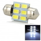 31MM DE3425 2W 120lm 9500K 6-SMD 5730 LED White Car License Plate / Reading / Roof Light (9~36V)