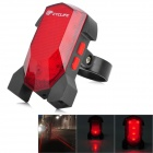 CYCLIFE Outdoor Cycling Bike USB 1-LED 4-Mode Intelligent Sensing Brake Tail Light w/ Laser - Red