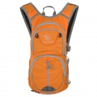Locallion SPO440 Outdoor Multi-function Backpack w/ Water Bag - Orange + Grey (12L)